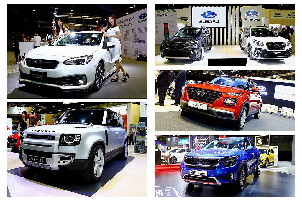 1月9日登場新加坡車展,其中有許多今年可能導入台灣的首發新車。 記者張振群/攝影