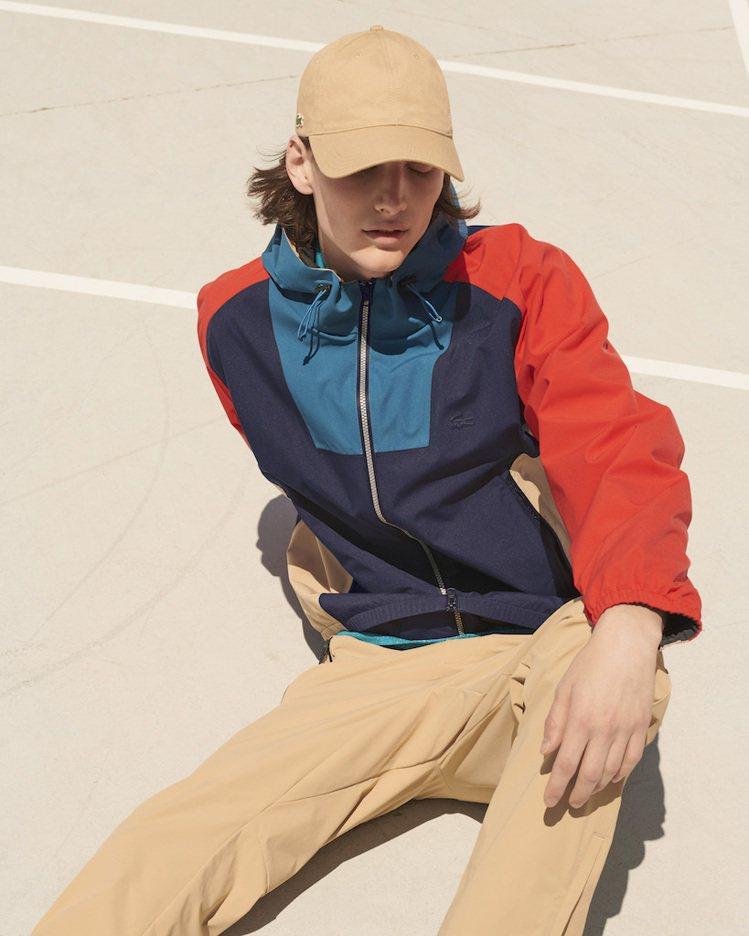 LACOSTE撞色機能夾克,售價11,000元。圖/LACOSTE提供