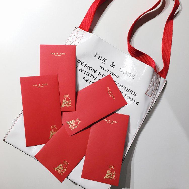 rag & bone 2020鼠年限定紅包袋。圖/rag & bone提供