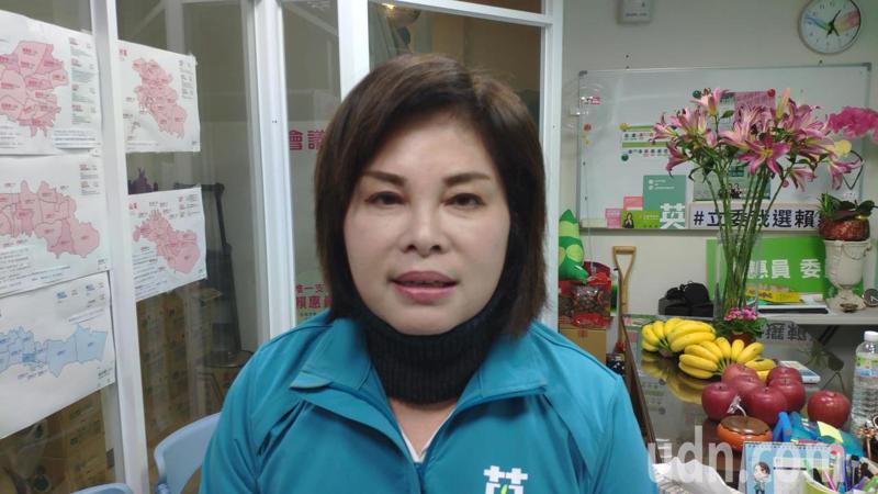 民進黨台南第一選區候選人賴惠員順利當選。記者謝進盛/攝影