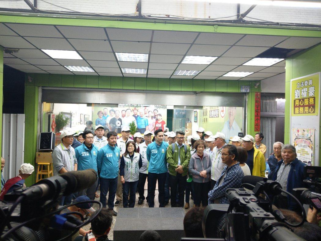 民進黨台東立委候選人劉櫂豪競選總部自行宣布當選。記者尤聰光/攝影