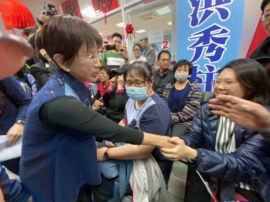 洪秀柱昨晚間在競選總部發表敗選感言。記者修瑞瑩/攝影