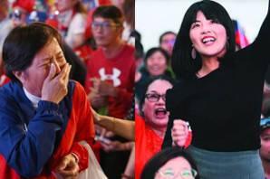 韓國瑜前年市長、今天總統開票兩樣情 韓粉邊哭邊喊加油
