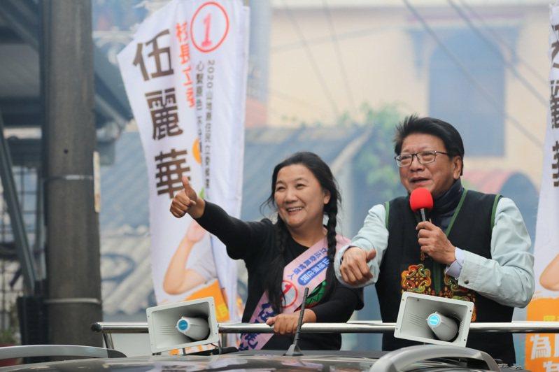 民進黨首名山地原住民立委伍麗華(左)。圖/伍麗華競選總部提供