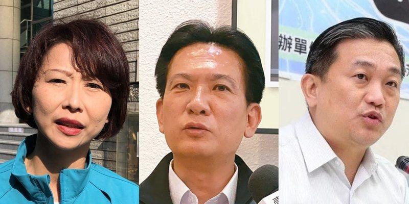 陳亭妃(左起)、林俊憲、王定宇。圖/本報資料照片