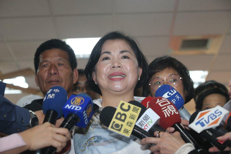 立委當選人楊瓊瓔說,開票過程兩個小時,她差點笑不出來。記者黃仲裕/攝影