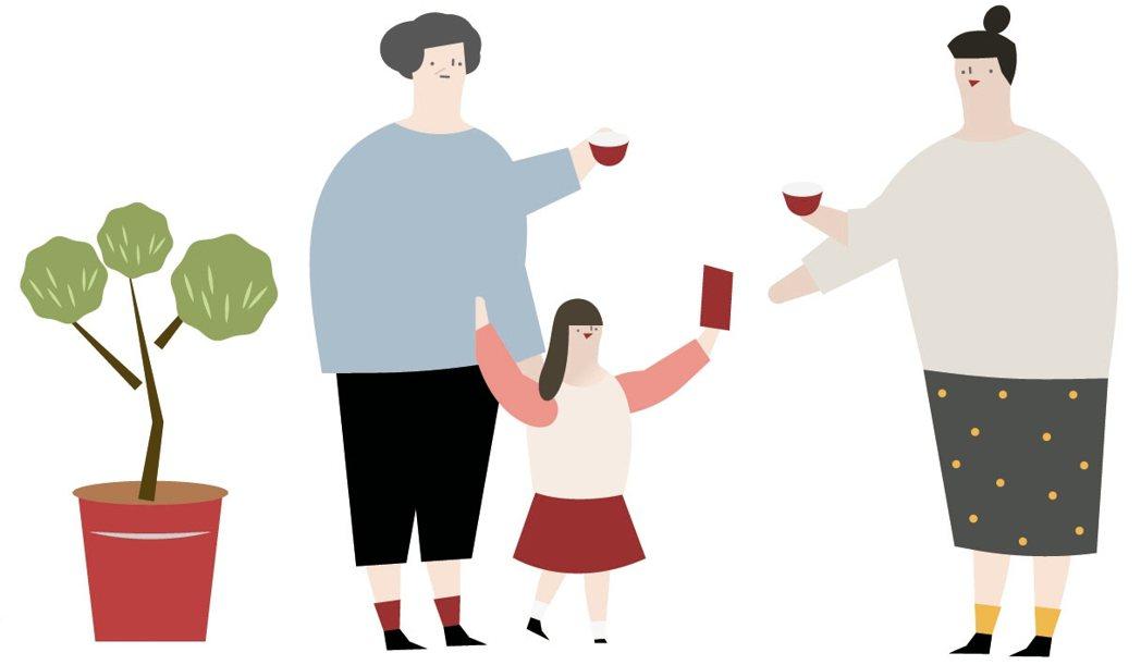 除夕,一家人圍繞在桌邊,享用團圓飯,但有些家庭的年夜飯,未必能那麼圓滿。圖/...