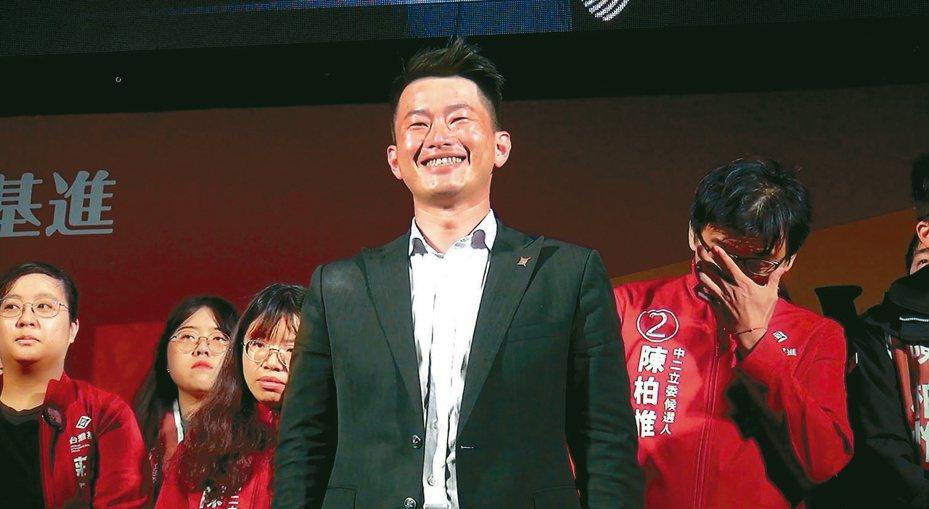 台灣基進黨的陳柏惟成為新國會最大黑馬。 記者陳宏睿/攝影