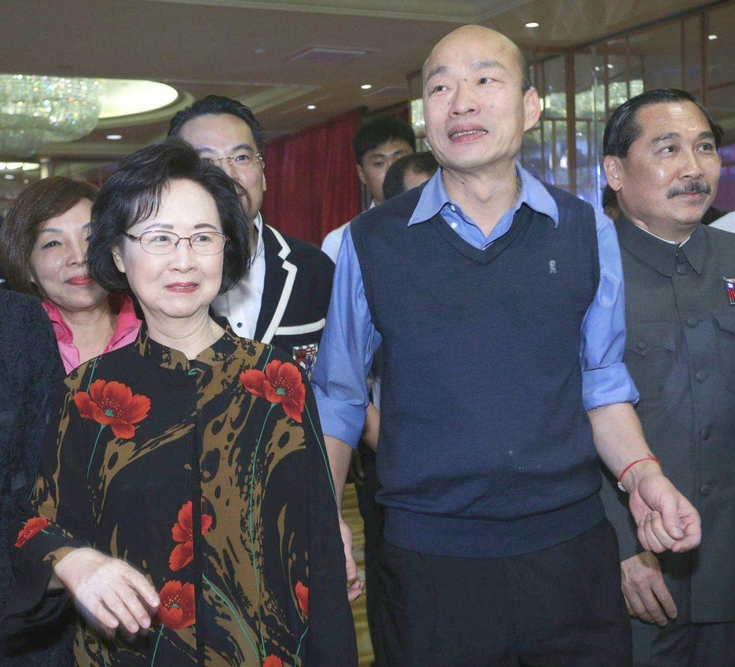 瓊瑤選前力挺韓國瑜。 圖/聯合報系資料照