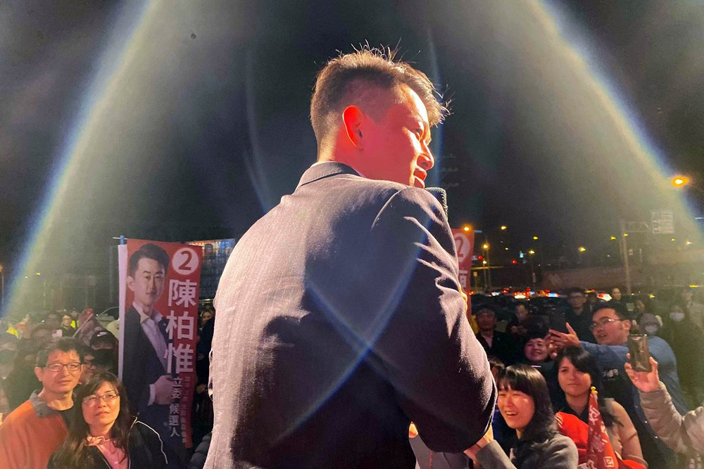 台中第二選區台灣基進的陳柏惟,翻轉了長期經營的顏家勢力,讓顏寬恒落馬。 圖/取自3Q 陳柏惟