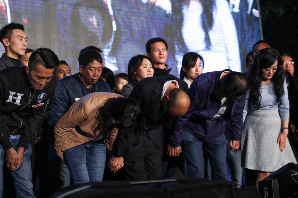 韓國瑜市長獲得552萬張選票,比2016年的朱立倫增加了171萬,得票率增加約7.6%。 圖/歐新社