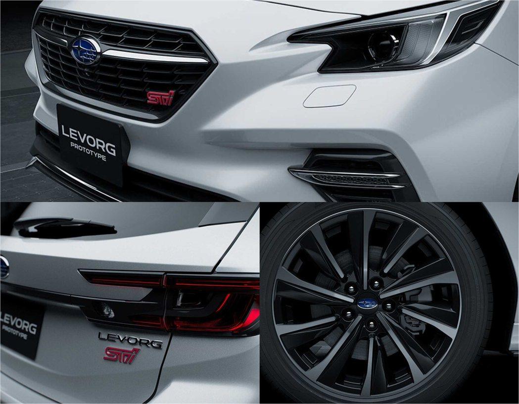 前後都放上STI銘牌搭配運動化鋁圈,凸顯車系運動風格。 圖/Subaru提供