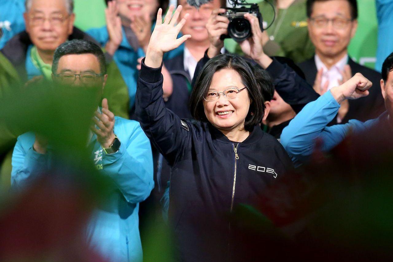 蔡勝選連任 環時:綠妖魔化大陸達最高峰