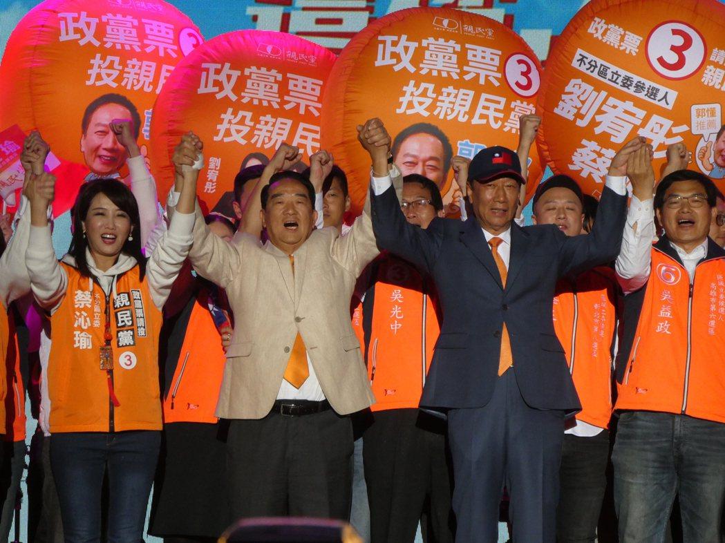2020大選結束,鴻海創辦人郭台銘子弟兵僅加入台灣民眾黨的高虹安當選不分區立委,...