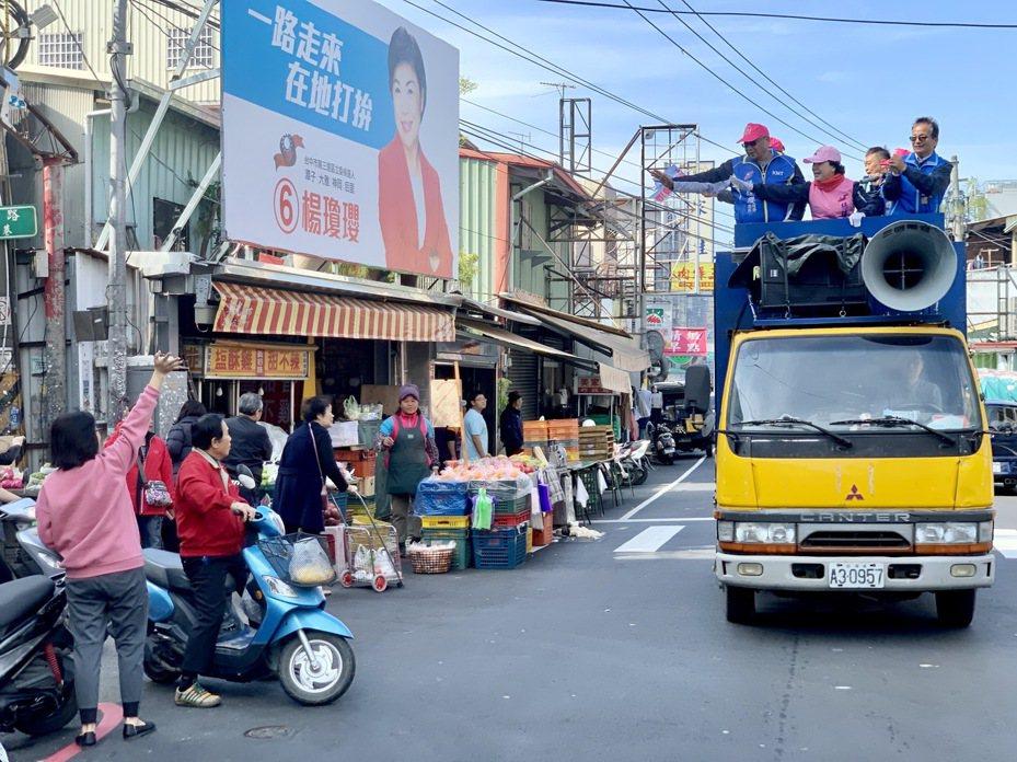 立委當選人楊瓊瓔贏回立委,今天早上開始謝票。圖/楊瓊瓔提供