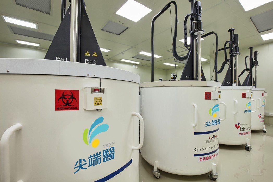 照片圖說:實驗室優於業界標準_打造幹細胞珍藏環境。尖端醫/提供