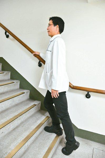 5.登階上下運動。圖/蔡明倫提供