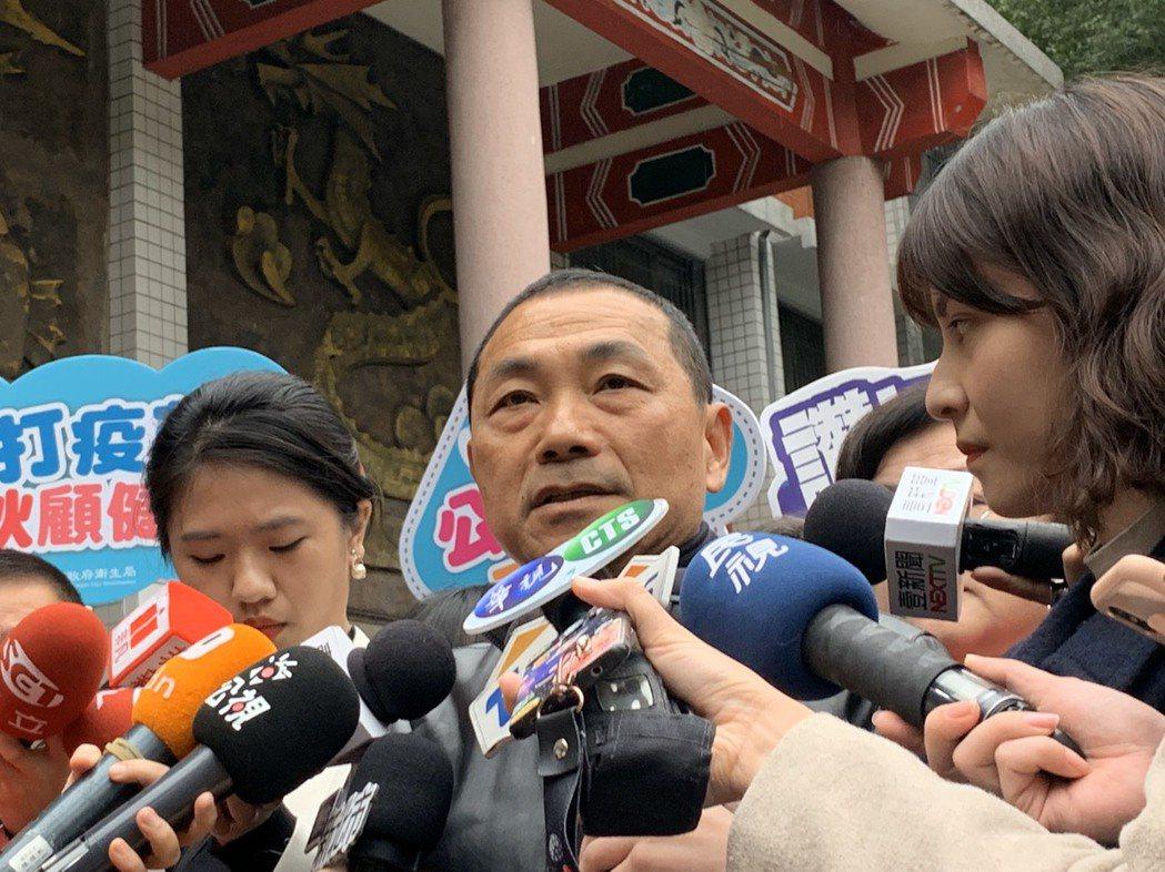 新北市長侯友宜表示,國民黨必須要大破大立改革。記者張曼蘋/攝影