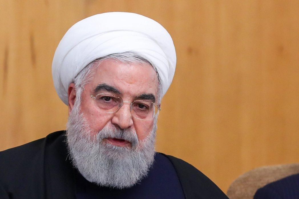伊朗總統羅哈尼。 (法新社)