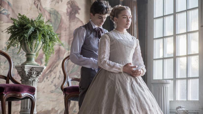 佛羅倫絲普伊與提摩西夏勒梅在「她們」最後成為一對。圖/摘自imdb