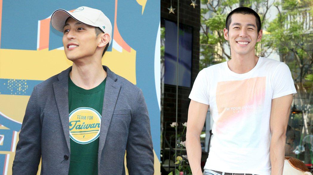吳怡農(左)被認為像男星郭鑫(右)。圖/報系資料照
