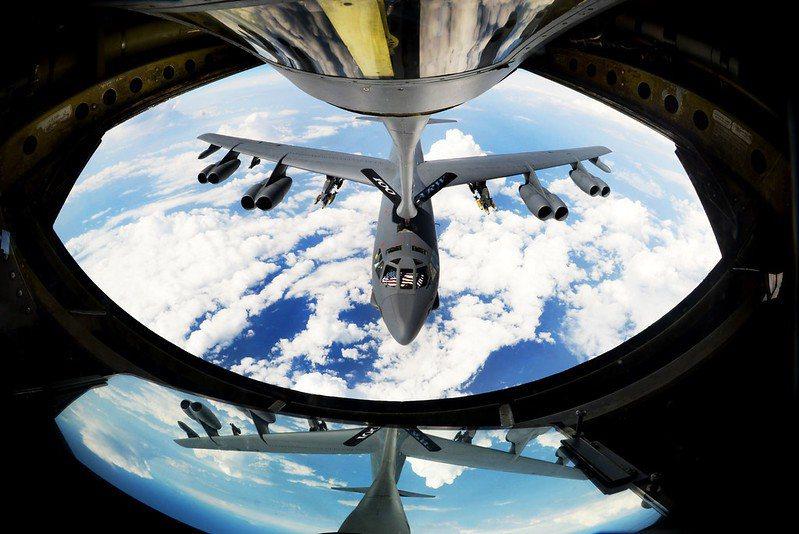 美B-52轟炸機。 圖/取自美國國防部