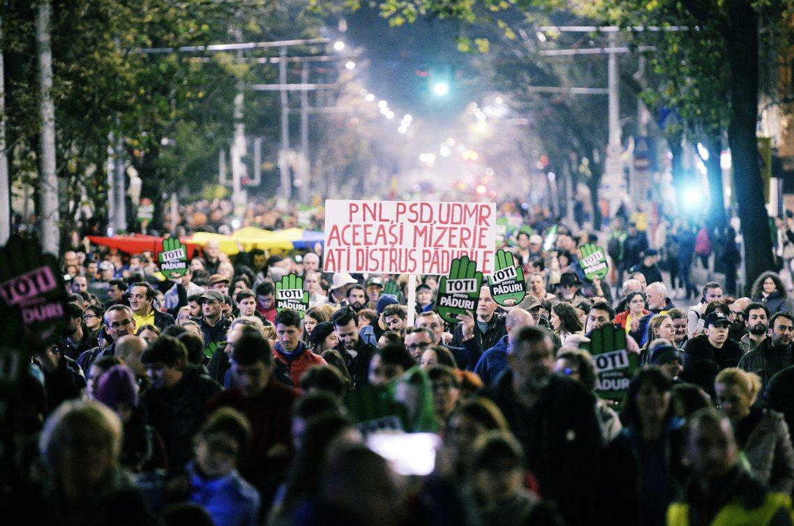 接連兩起護林員被殺事件,激起數千人走上首都布加勒斯特街頭示威,也讓「血森林」的長...