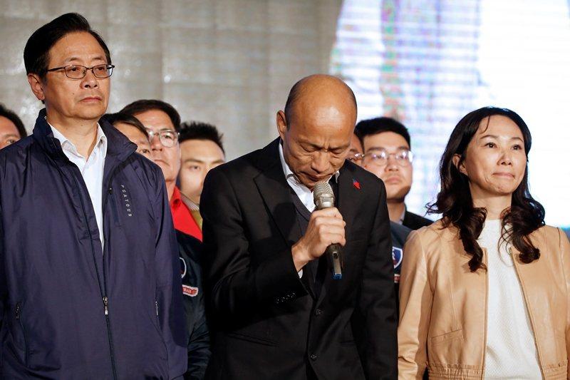 這次的敗選演講,鮮明地展現了韓國瑜的人格特質。 圖/路透社