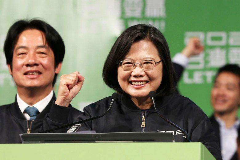 台灣總統與立委選舉落幕,蔡英文總統成功連任。 圖/美聯社