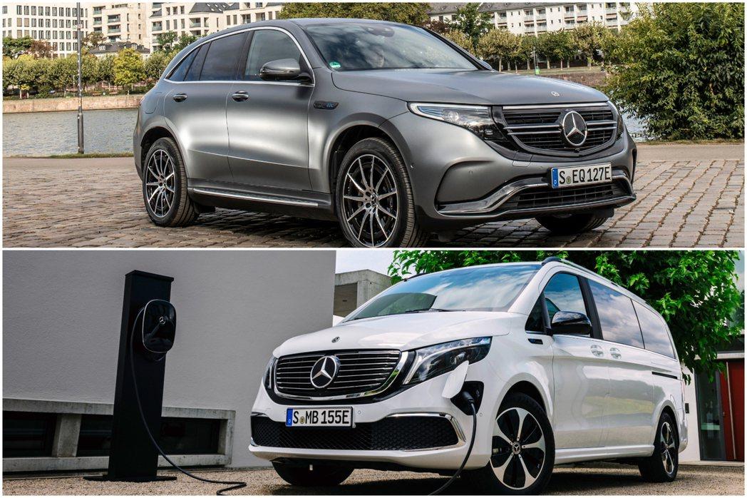 目前Mercedes-Benz旗下共有EQC與EQV兩款純電系列車型。 摘自Me...