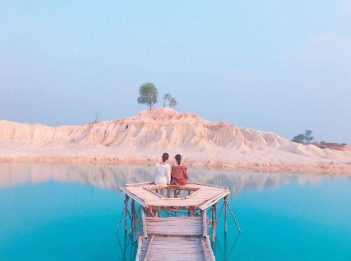 黃金沙丘&藍湖Danau biru。 圖/IG, satoyaaann0907