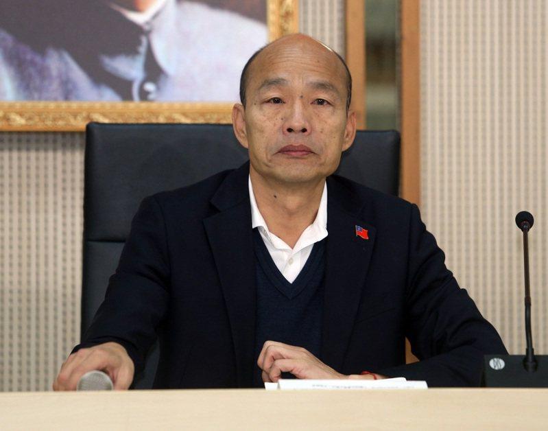 國民黨總統候選人韓國瑜表示,總統選舉補助款一塊錢也不會拿。記者劉學聖/攝影