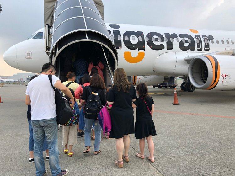 台灣虎航推出同行優惠,2人可享有85折、4人可享有75折。記者魏妤庭/攝影