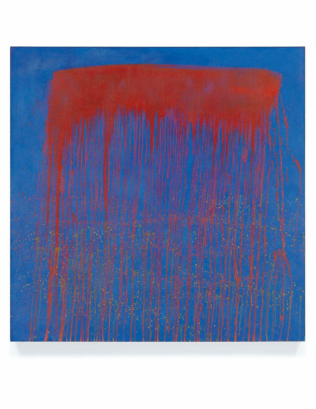 Pat Steir,「Vibrating Blue and Red Waterf...