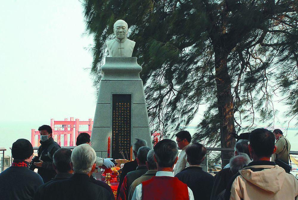 經國先生業師吳稚暉海葬金門。圖/聯合報系資料照片