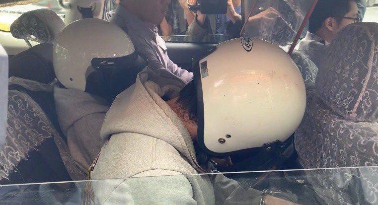 涉嫌活活餓死2歲兒子的林姓女子及蕭姓同居人。本報資料照片