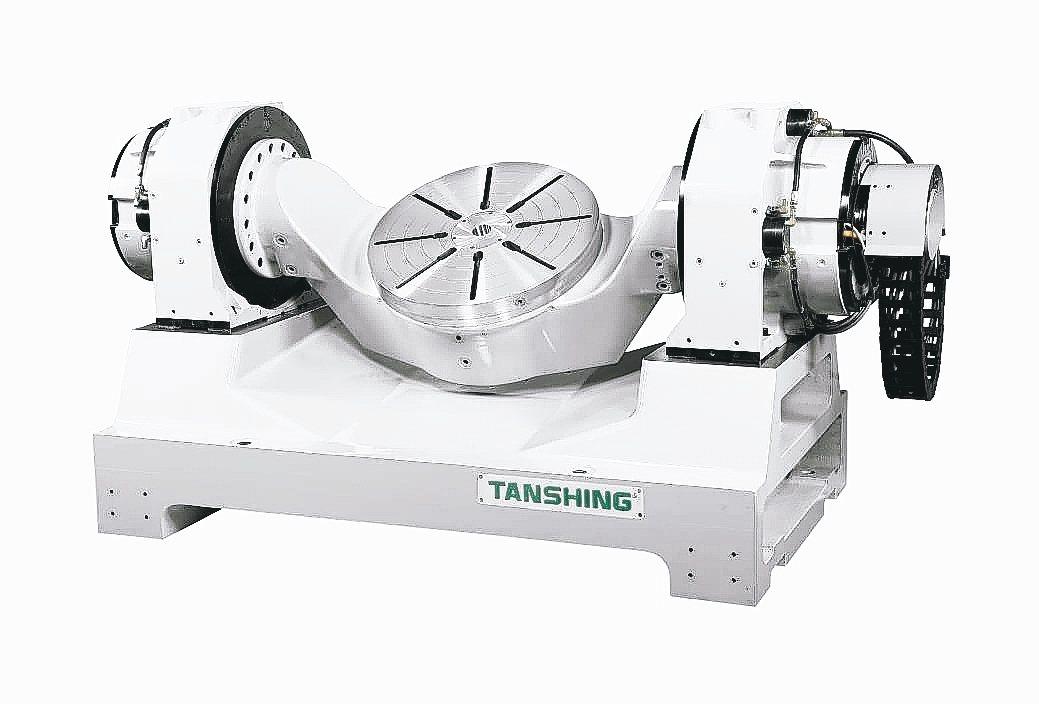 TDXT-HS630雙軸雙臂搖籃(高階3DD)高速銑車複合旋轉工作台。 潭興/提...
