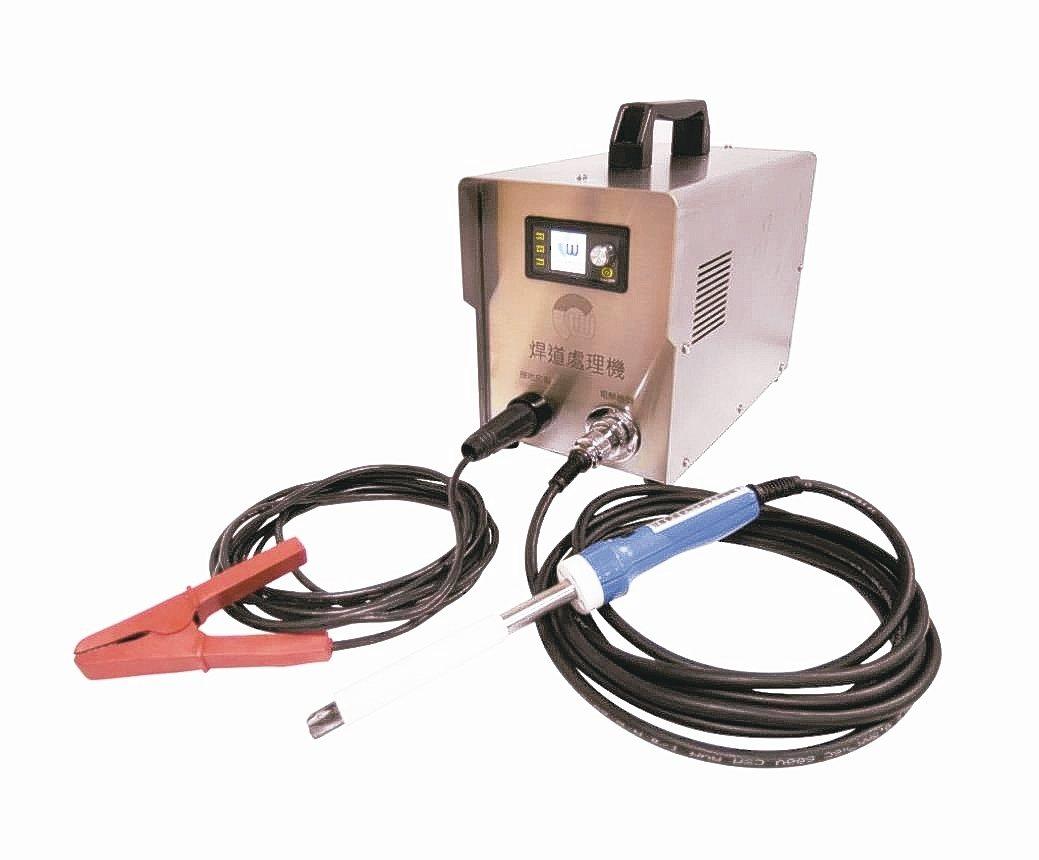 圳瑋變頻式全數位焊道處理機,台灣在地自主性開發設計製造。 圳瑋公司/提供