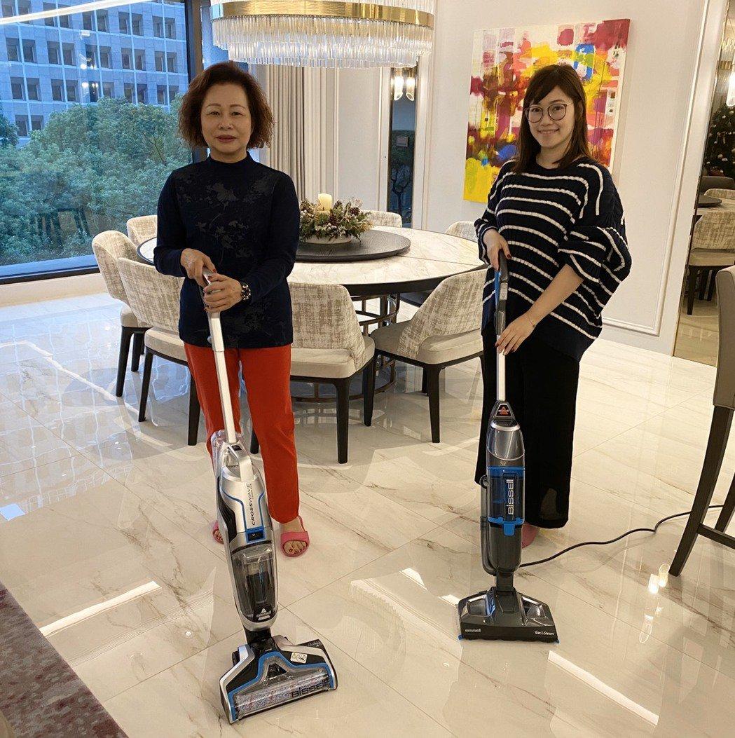 郭永福強調,Bissell產品清潔獨到,「蒸」、「吸」、「拖」全方位守護居家整潔...