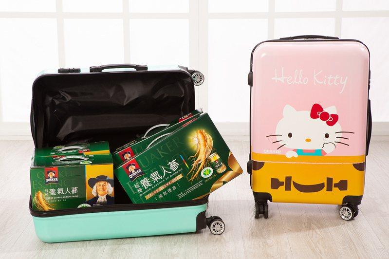 桂格與Hello Kitty跨界聯名,炒熱年節補品市場。 圖/桂格 提供