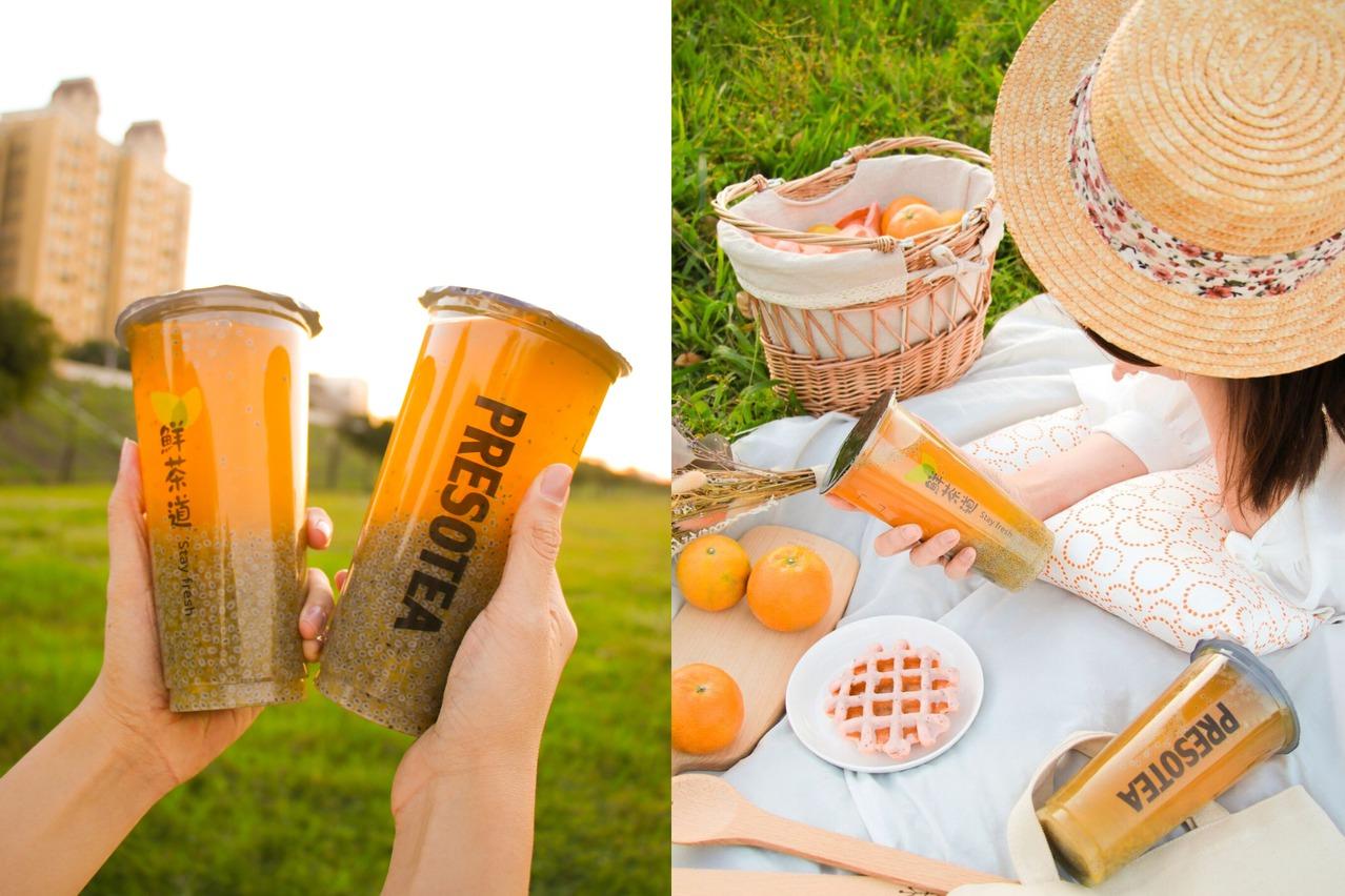 最夯本土特色茶飲回歸!小農直送X鮮茶道季節限定「橘香烏龍」 2杯特價88折