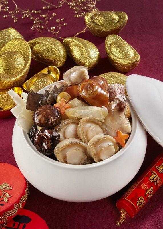 國泰萬怡的外帶年菜「清燉鮑魚佛跳牆」。 業者/提供
