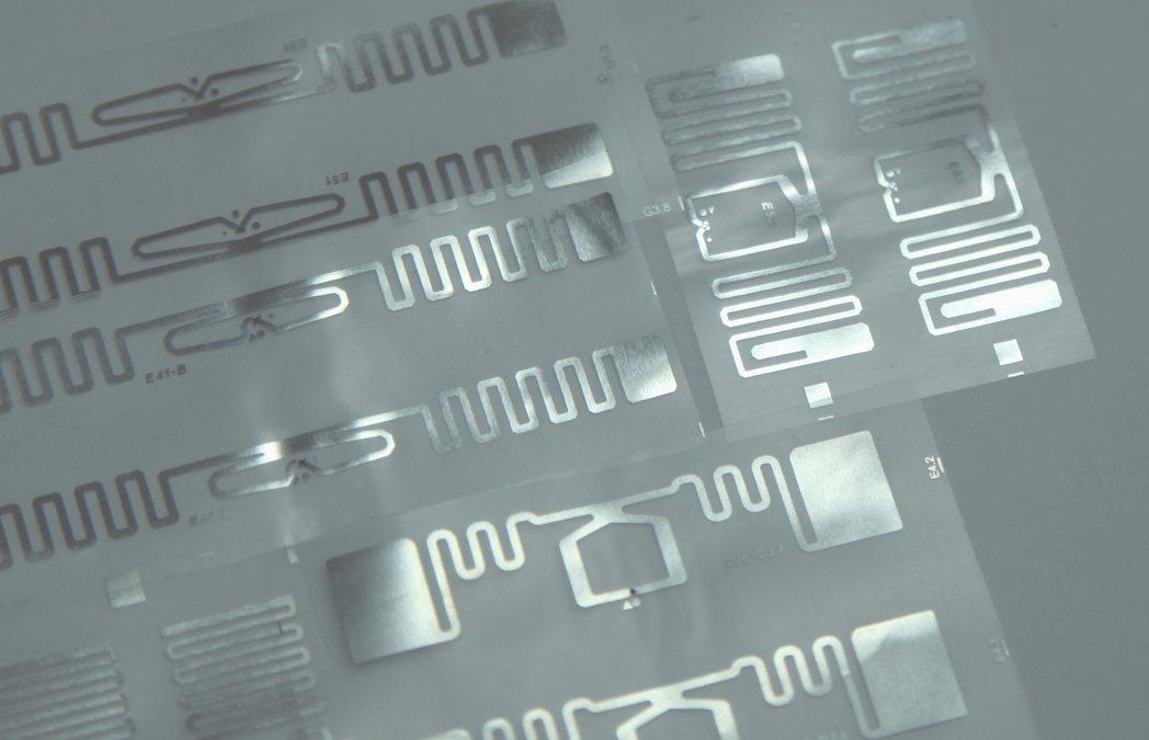 RFID電子標籤,應用面廣。 羅鐵機械/提供。