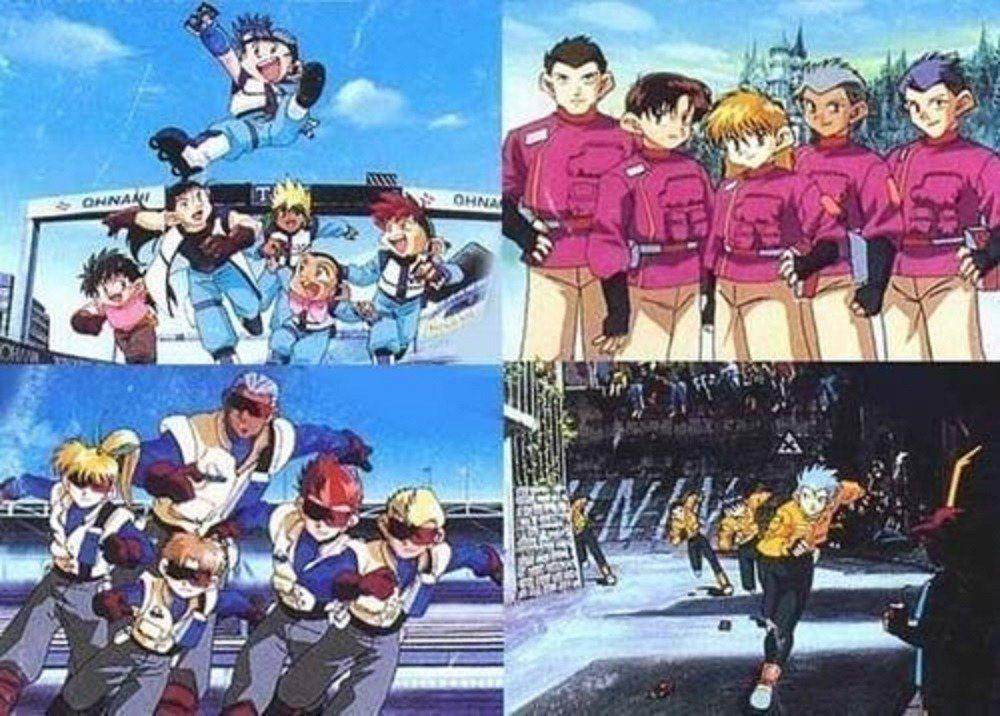 日本隊(左上)德國隊(右上)美國隊(左下)義大利隊(右下),是否也和世界上的造車...