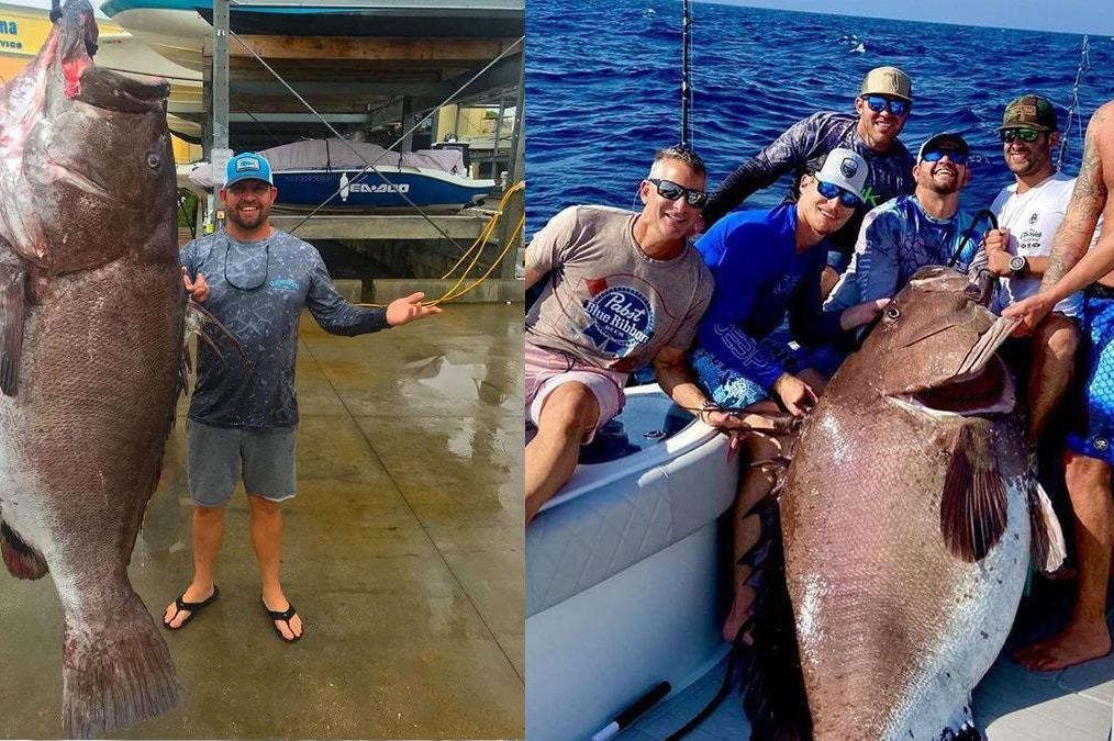 比人還高!他釣上158公斤巨型石斑 專家一估50歲