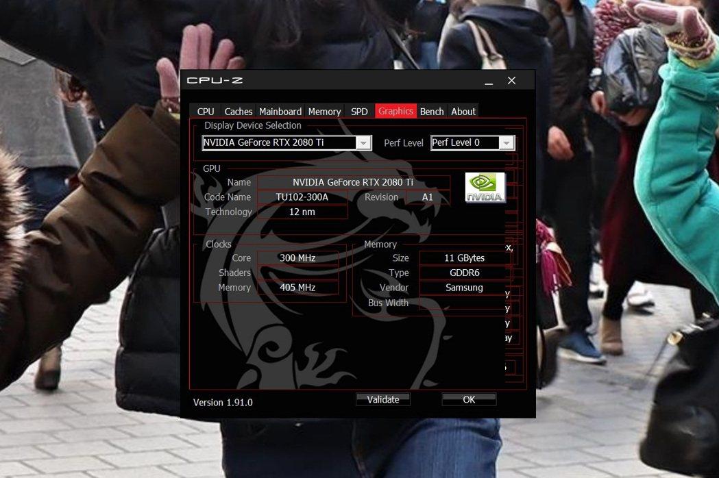 顯示卡為NVIDIA Geforce RTX 2080 Ti VENTUS 11...