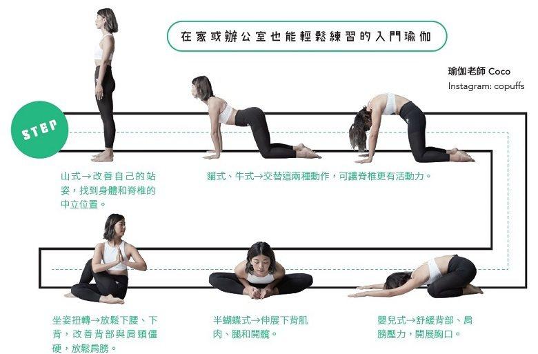 在家或辦公室也能輕鬆練習的入門瑜珈