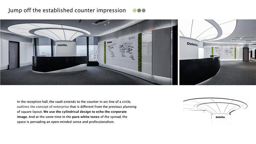 (圖)圓柱狀櫃檯打破以往方正的印象,同時呼應企業招牌的圓點(Dot)。