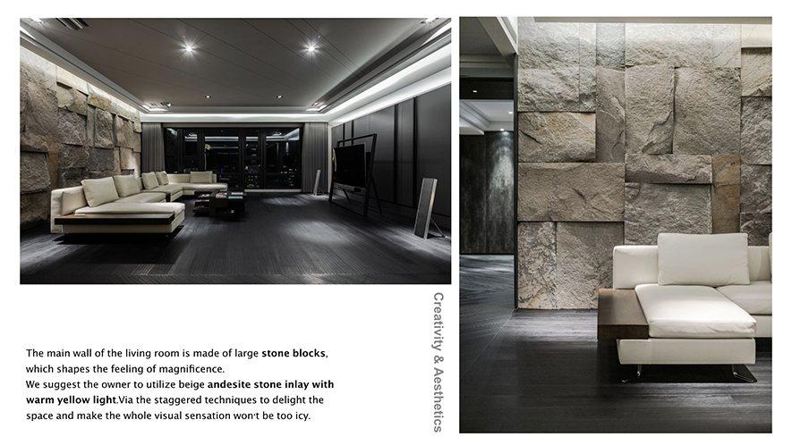 (圖)由於客戶對於清冷調性的愛好,空間中多以黑白灰作為基質,偕以淺灰、米色家飾淡...