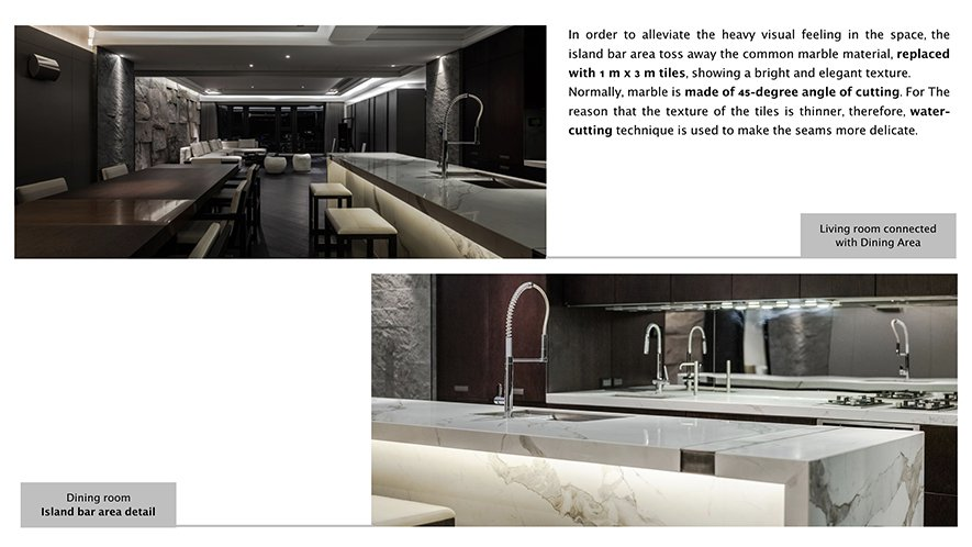(圖)位於廊道另一側的餐廚區域採全開放設計,讓視野能夠自由穿梭。而在一片沉靜深木...